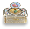 Antique silver-gilt and enamel singing bird box, by Charles Bruguier