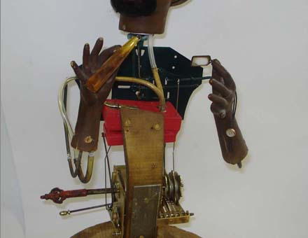 Antique Black smoker automaton, by Gustave Vichy
